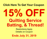 15% Off Quilting